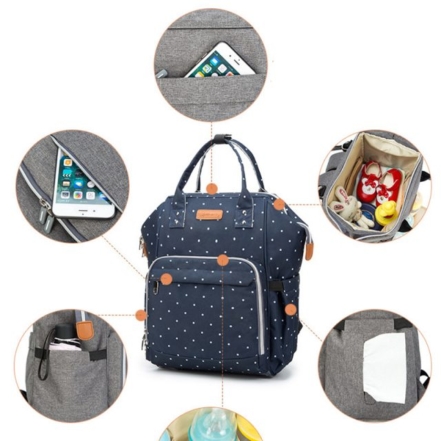 Diaper Bag for Baby Care with Large Capacity