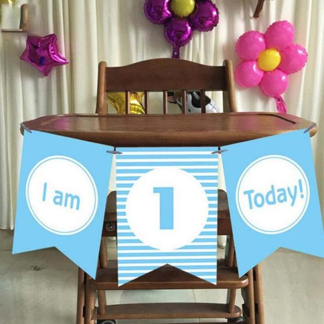 Set I am 1 Today Lovely Paper Banners