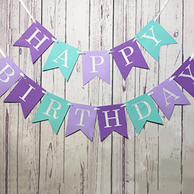 Paper Banners for Birthday Party