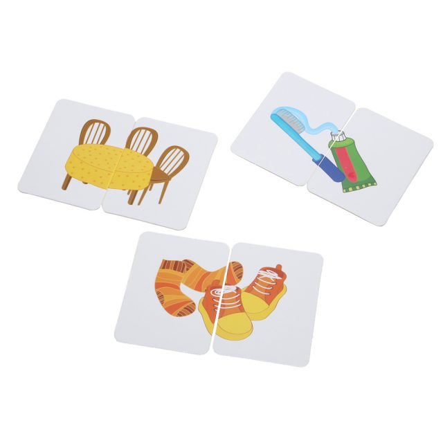 Anti-Tear Cognition Puzzle Educational Matching Cards