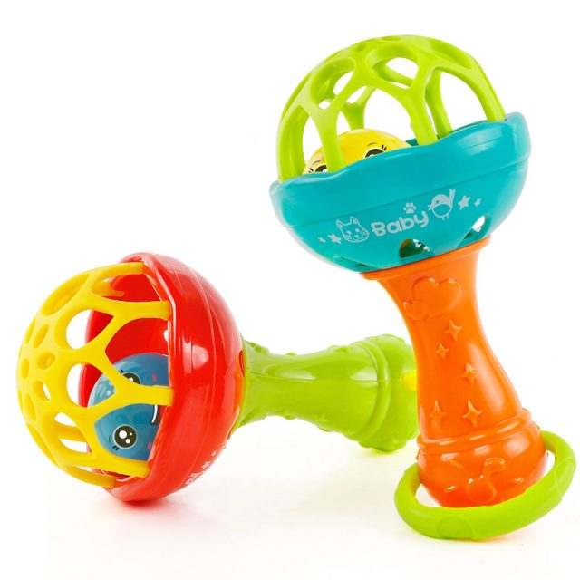 Plastic Colorful Funny Rattles