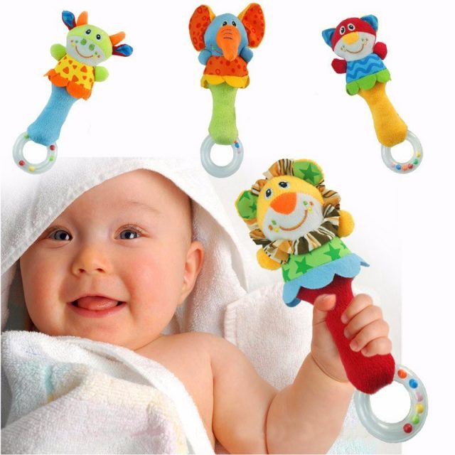 Baby's Cute Plush Animal Rattle Toy