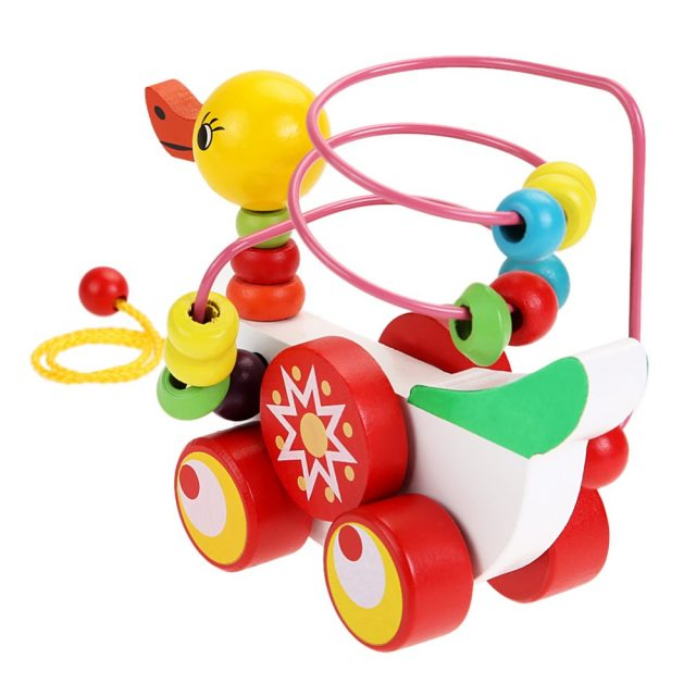 Wooden Duck on Wheels for Kids
