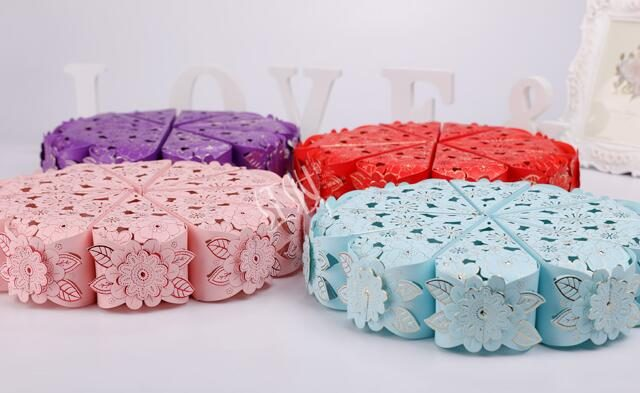 (50/100pcs) Floral Patterned Gift Boxes for Gender Reveal/Baby Shower Party