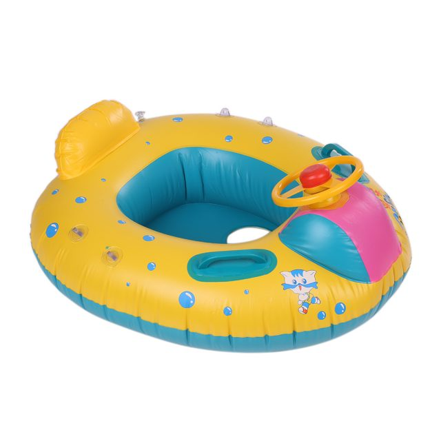 Inflatable Kid's Swimming Ring with Sunshade