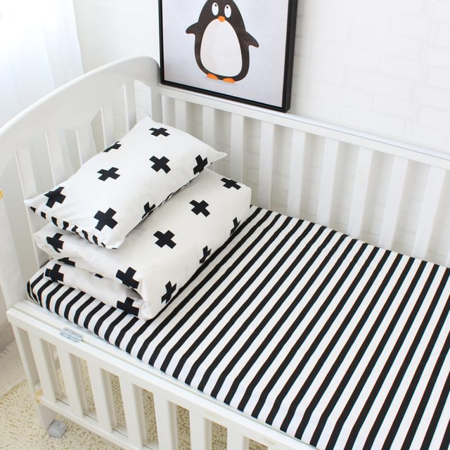 Baby Cotton Striped Bedding Set