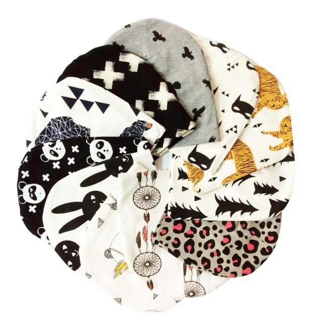Kid's Printed Cotton Hat