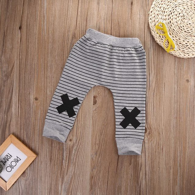 Baby Boy's Warm Striped Cotton Pants