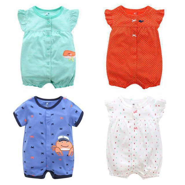 Baby's Cute Breathable Cotton Romper