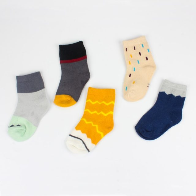 Baby Boy's Comfortable Multicolored Cotton Socks
