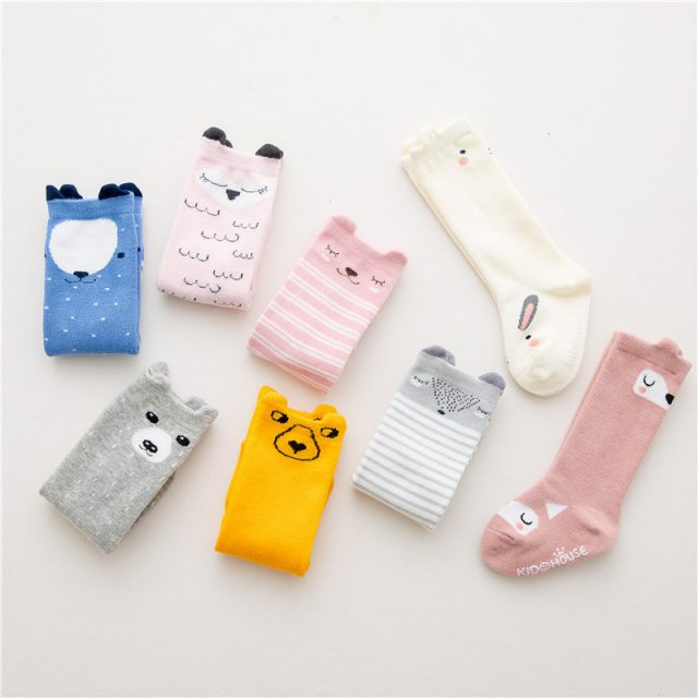 Baby Girls's Cartoon Printed Cotton Breathable Socks