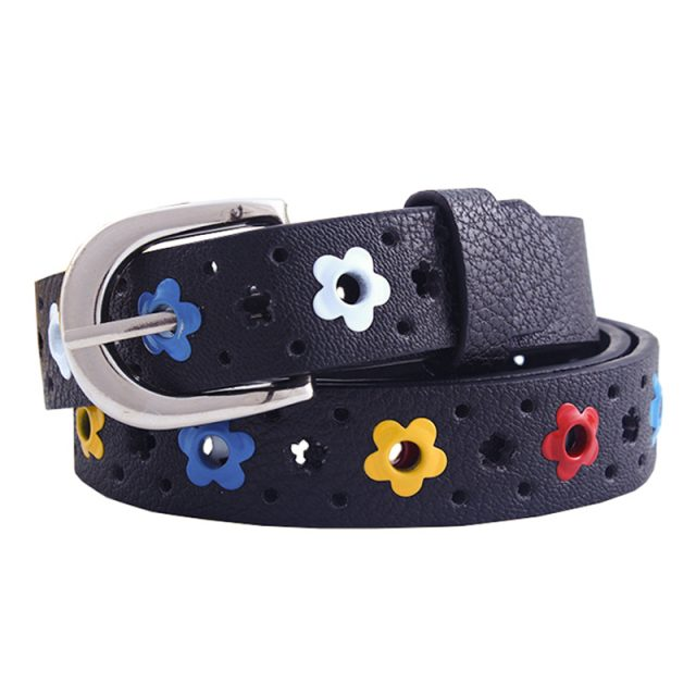 Fashion Floral Print Faux Leather Belt for Kids