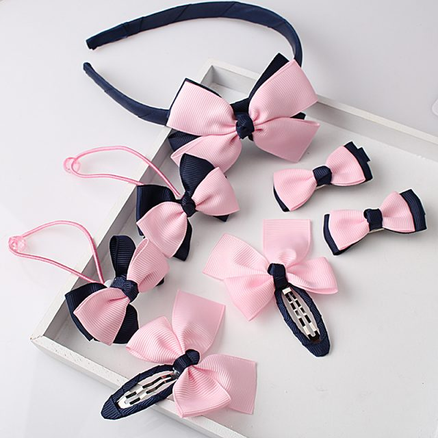 Girl's Pink Hair Accessories Set