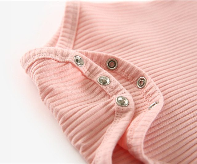 Baby Girl's Knitted Long Sleeve Bodysuit