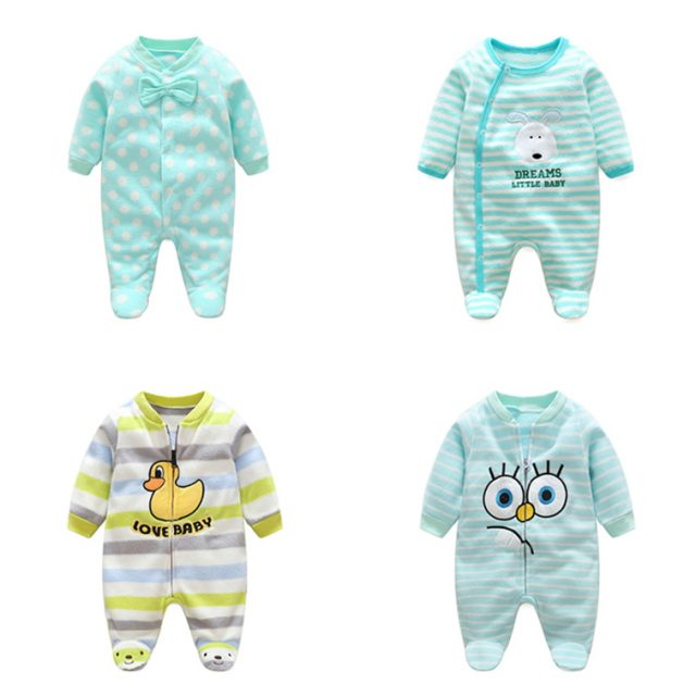 Baby Girl's Striped Soft Jumpsuit