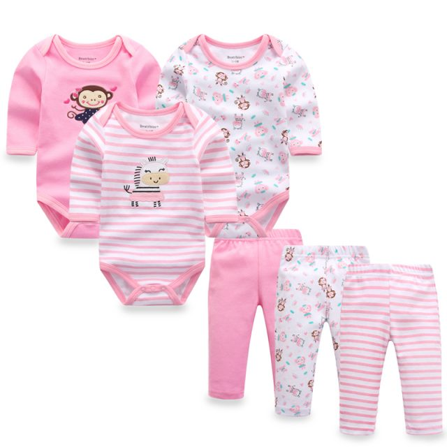 Baby Girl's Colorful Cotton Clothing Set